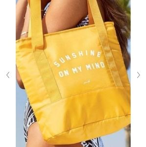 Pink Victoria's Secret Cheerful Yellow Tote Cooler